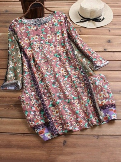 crew-neck-casual-floral-blouse-shirts