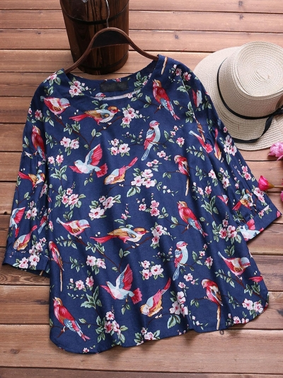 floral-printed-long-sleeve-vintage-blouse
