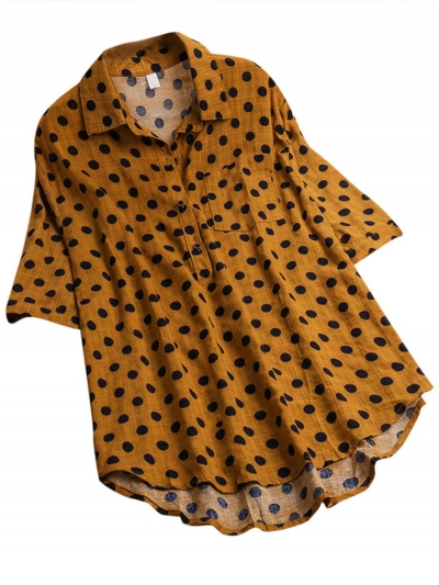 polka-dot-printed-half-sleeve-blouse