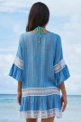 leisure-flare-sleeve-lace-panel-tunic-cover-up