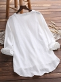 long-sleeve-buttoned-sweet-crew-neck-blouses