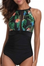 swimeetu-flower-print-patchwork-design-one-piece-swimsuit