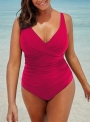 black-ruched-v-neck-one-piece-swimsuit