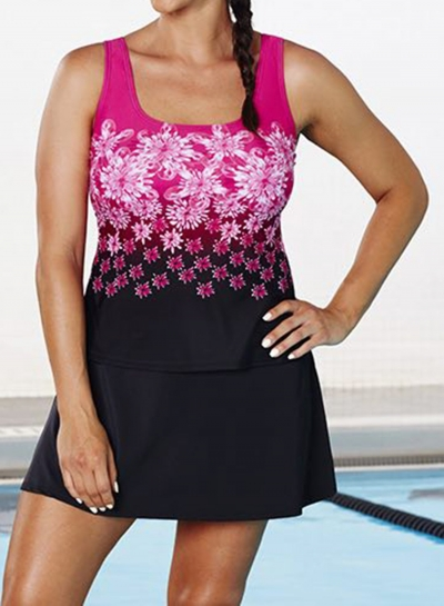 chlorine-resistant-pink-exploded-floral-sport-tankini-with-skirt