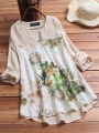 vintage-print-patchwork-plus-size-blouse-for-women
